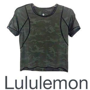 Lululemon Outrun the Heat Short Sleeve Camo Top